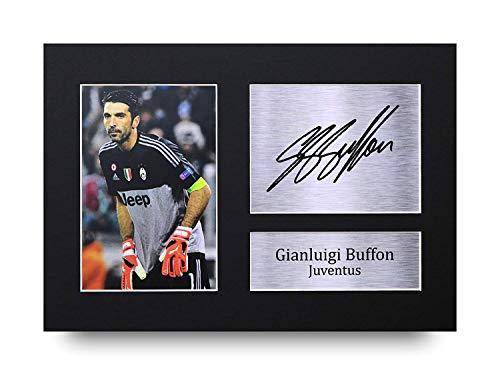 HWC Trading Gianluigi Buffon Geschenke Unterzeichneten A4 Gedrucktes Autogramm Juventus Druck-Foto-Bilderanzeige
