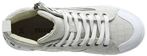 Yellow Cab Twist W, Baskets Basses femme Blanc - Blanc