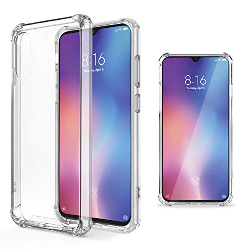 Moozy Funda Silicona Antigolpes Xiaomi Mi 9 - Transparente