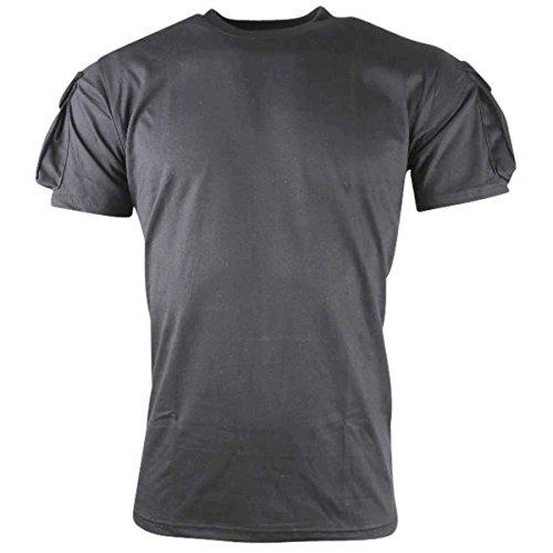 Kombat uk maglietta tattica a maniche corte da uomo, uomo, tactical short sleeve, black, m