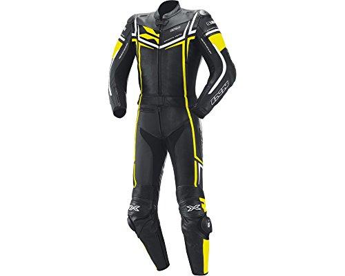 Preisvergleich Produktbild Kombi aus Rindsleder IXS RAY schwarz-gelb-weiß Gr.56