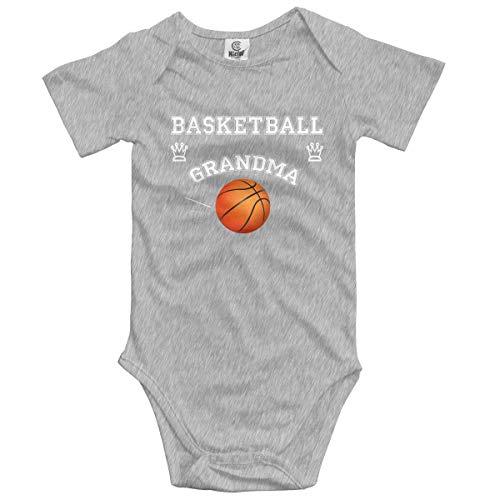Klotr Unisex Baby Body Kurzarm Basketball Fan Grandma Newborn Bodysuits Baumwolle Strampler Outfit Set
