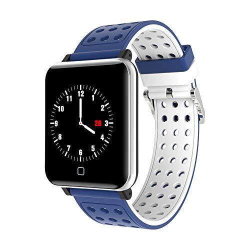 Fitness Armband, Elospy Smartwatch Wasserdicht IP67 mit Pulsmesser 1,30 Zoll Farbbildschirm mit Schlaf-Monitor Kalorienzähler Blutdruckmonitor Fitness Tracker SMS Anruf Beachten für Android iOS