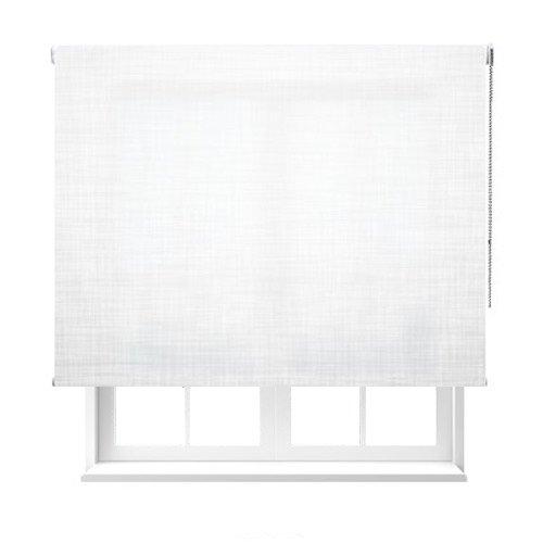 Estoralia - Estor enrollable de color blanco. Medidas: 95x250