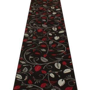 Carpet Runners UK Scroll schwarz–Hall, Treppe Teppich Läufer (erhältlich in jede Länge bis 30m) (Läufer L Schwarz Ft 9)