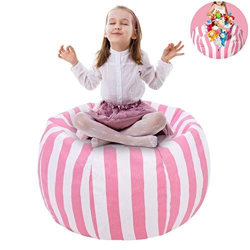 """UMYMAYDO1 38"""" Stofftier Kuscheltiere Aufbewahrung Aufbewahrungstasche Sitzsack Kinder Soft Pouch Stoff Stuhl (Pink)"""