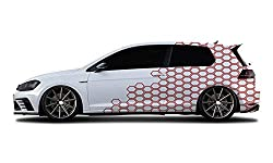 WRAP-SKIN Camouflage Cyber Pixel Aufkleber Auto Tuning Komplettset 2 x WS-01-00-10003 031 Rot Glanz