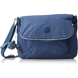 Kipling - Garan, Shoppers y bolsos de hombro Mujer, Blau (Jazzy Blue), 17x35x25.5 cm (B x H T)