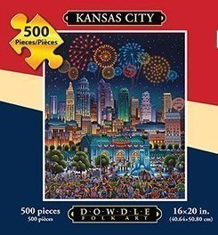 Jigsaw Puzzle - Kansas City 500 Pc By Dowdle Folk Art by Dowdle Folk Art