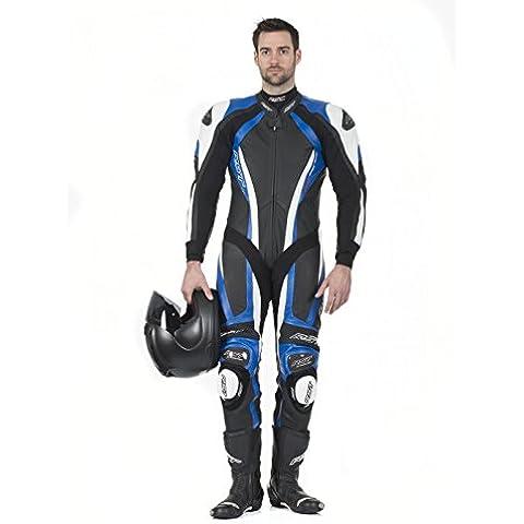 RST serie Pro CPXC 1033 pelle moto tuta blu