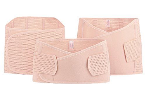 FEOYA Elastisch Damen Postpartum Slimming Belt Atmungsaktive Postpartum Bauchband Nach Geburt abnehmen Bauch Gütel für Taillenmieder Taillenformer Hautfarbe-loch