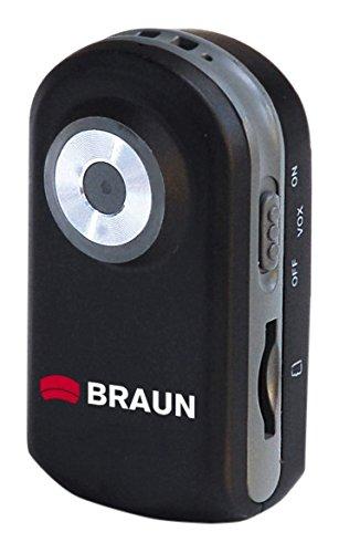 Braun Phototechnik MiniActionDV Pocket Camcorder (2 Megapixel, 1-fach opt. Zoom, 20m wasserdicht) schwarz