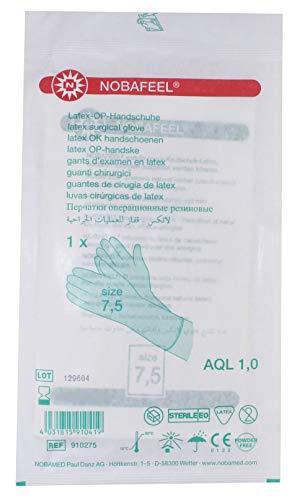 1 Paar sterile OP Handschuhe Latex Einmalhandschuhe PF Gr. 7,5