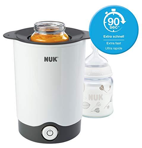 NUK Thermo Express Flaschenwärmer, schonendes Erwärmen in nur 90 Sekunden, für alle handelsüblichen Gläschen und Flaschen