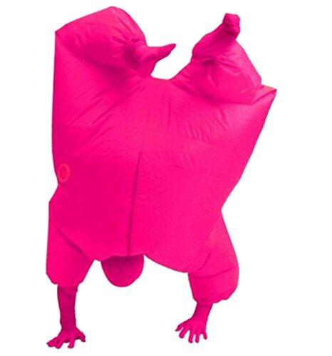 Erwachsene Size aufblasbar Cosplay Kostüm Ganzkörper Jumpsuit Rosa (Fußball Aufblasbare Kostüm)