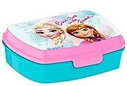 Melamina Scuola , Asilo Portamerenda Frozen , chiusura a gancio Dimensioni 17x13x7cm Prodotto ufficiale Disney