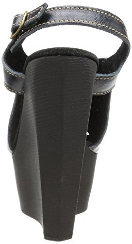Sbicca Mercer Damen Leder Keilabsätze Sandale Black