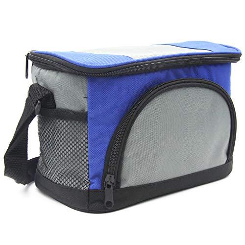 Sunkey borsa termica pranzo portatile con tracolla 4.5l borsa frigo piccola per ufficio scuola (blu)