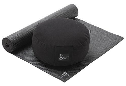 Yogistar Set Starter Edition–Meditación de yoga (Esterilla de yoga + cojín), negro