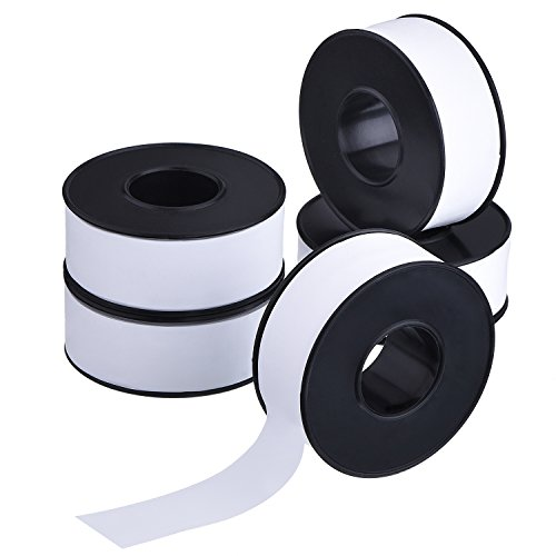mudder-5-rolls-19-mm-width-20-m-length-industrial-sealants-tape-ptfe-tape-for-pipe-connections-black