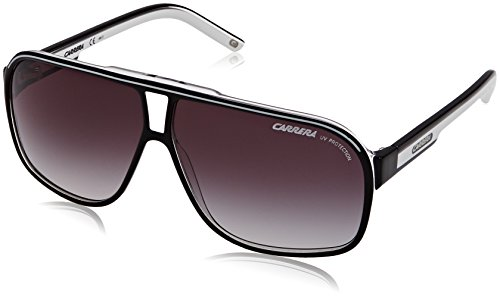 Carrera - GRAND PRIX 2 9OT4M64 (64 mm), Occhiali Da Sole unisex, schwarz/weiß, one size
