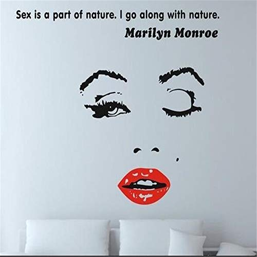 adesivo da parete Marilyn Monroe Quote Moon Star Soggiorno Camera Decoracion Bagno Home Decor Door
