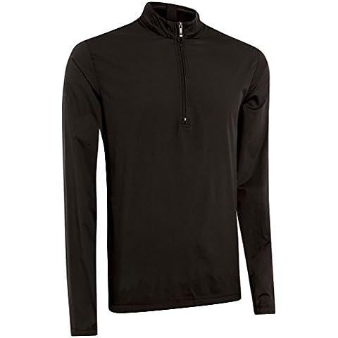 Ashworth 2015 rendimiento viento media cremallera térmica suéter para hombre Golf, color Negro - negro, tamaño XXL