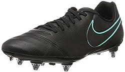 Nike Herren Tiempo Genio II Leather SG Fußballschuhe, Negro (Black/Black), 42 EU