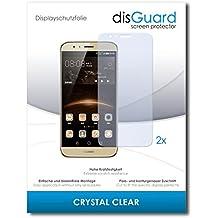 2 x disGuard Crystal Clear Lámina de protección para Huawei G8 / G-8 - ¡Protección de pantalla cristalina con recubrimiento duro! CALIDAD PREMIUM - Made in Germany