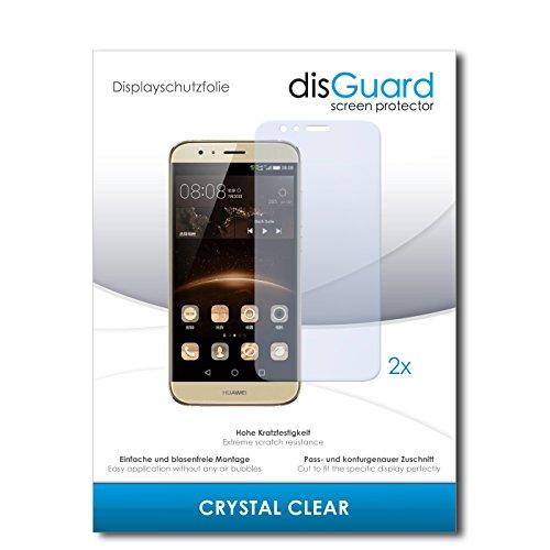 disGuard® Bildschirmschutzfolie [Crystal Clear] kompatibel mit Huawei G8 [2 Stück] Kristallklar, Transparent, Unsichtbar, Extrem Kratzfest, Anti-Fingerabdruck - Panzerglas Folie, Schutzfolie