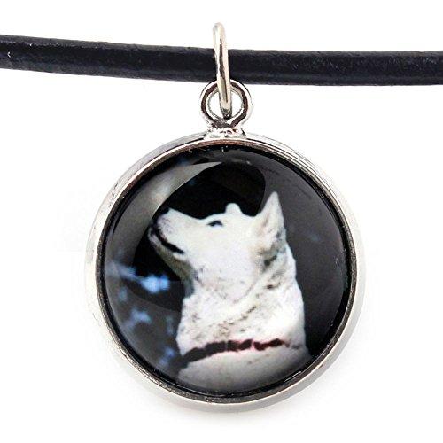 ArtDog Ltd. Akita Inu, Halskette für Menschen, die Hunde Lieben, Foto-Schmuck, Handgefertigt (Akita-hund Foto)