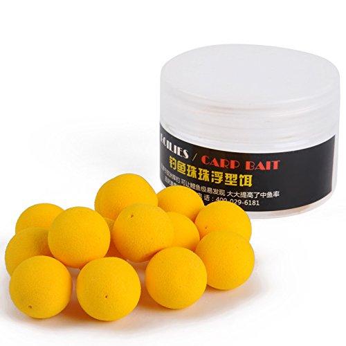 TENGGO 20 Stück/Box Geruch Weicher Angelköder schwimmende Geruch Ball Perlen Feeder Karpfen Kunstköder, 004