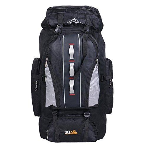 ZC&J Nylon impermeabile borsa da montagna all'aperto, generale maschio e femmina, escursionismo, alpinismo, campeggio, zaino multifunzionale, zaino regolabile di alta qualità,E,56-75L B