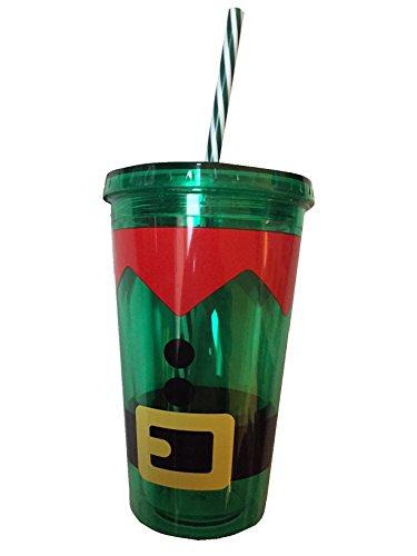 Fabriqué Par Elfes Elfe Tasse en plastique avec Paille Lot de 3