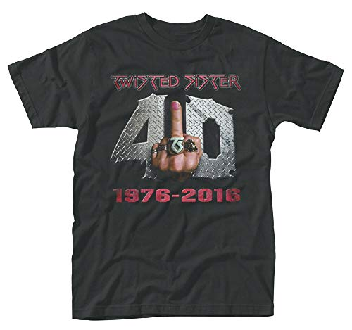 Twisted Sister '40 and Fu*k It' T-Shirt - New & Official! (Twisted Sister-t-shirt)