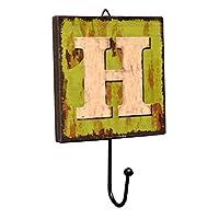 Panda Legends Creative Retro Style Wall Hooks Wood Material Letter Pattern Decorative Hook (H)