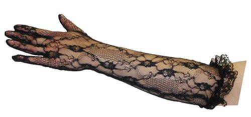 ogenlange Spitze Handschuhe mit Rüschen Handgelenk (Ellbogenlange Spitze Handschuhe)