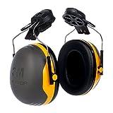 3M Kapselgehörschutz X2P3E,  Helmbefestigung, SNR = 30 dB, schwarz/gelb