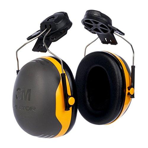 3M Kapselgehörschutz X2P3E,  Helmbefestigung, SNR = 30 dB, schwarz/gelb -