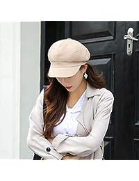 Sombrero cálido Sombrero mujer otoño e invierno casual salvaje japonés  casquillo octagonal británico retro color sólido 88935c0c9a1