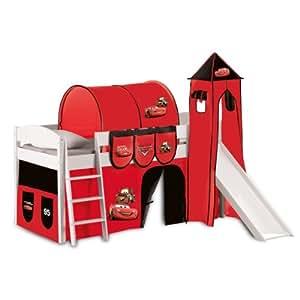 Herding 673018371 Kit Cars pour lit en hauteur avec tour, tunnel, rideaux et pochettes de rangement