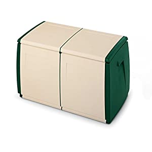 Terry in & Out Box 97 Baule in Plastica, Beige/Verde, 97 x 54 x 57 cm