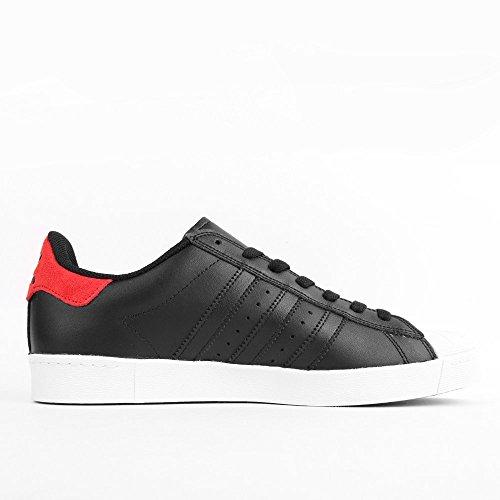 adidas Superstar Vulc ADV Black Scarlet White Noir