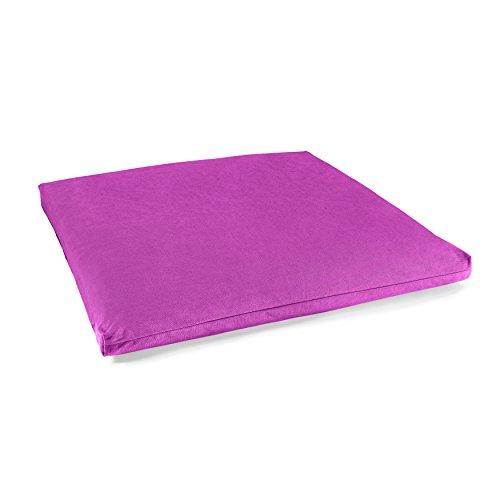 Lotuscrafts Meditationsmatte ZABUTON Deluxe, 100% Baumwolle (KBA), GOTS Zertifiziert (Violett)
