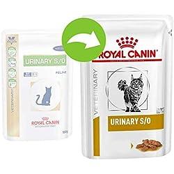 Royal Canin Urinary S/O Nourriture diététique pour chats Saveur poulet 48 x 100 g