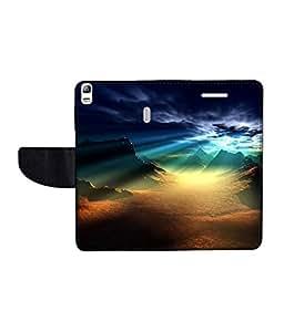 KolorEdge Printed Flip Cover For Lenovo A7000 Multicolor - (55KeMLogo09192LenovoA7000)