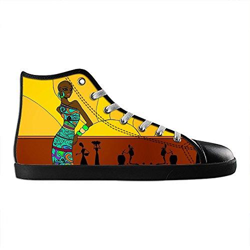 Dalliy African woman Men's Canvas shoes Schuhe Lace-up High-top Sneakers Segeltuchschuhe Leinwand-Schuh-Turnschuhe D