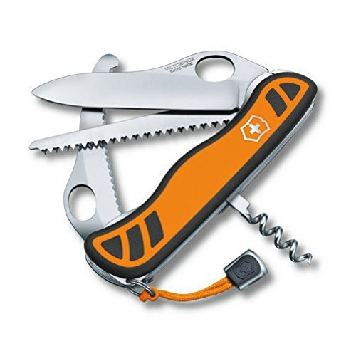 41UPBheMAoL. SS500  - Victorinox Hunter XT Grip Swiss Army Pocket Knife, Large, Multi Tool, 6 Functions, Locking Gutting Blade, Orange/Black
