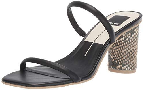 Dolce Vita Leder Schwarz (Dolce Vita Damen Noles Sandalen mit Absatz, schwarzes Leder, 36 EU)