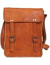 Anshika International Vintage Genuine Brown Leather Messenger Bag
